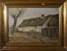 Antique Danish Landscape Oil Painting, Monogramed, Illegible, Quality & NICE!