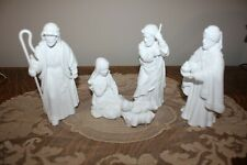 1983 AVON NATIVITY Set of 5 Different Pcs. SEE IMAGES! White Porcelain NO BOXES