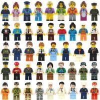 50pcs/lot NEW LE*GO TYPE CITY PEOPLE Building Blocks MiniFigures Toys for Kids