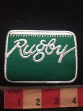 Green & White RUGBY Patch - Football 69D2