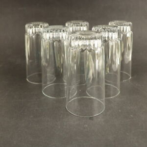 Vintage Luminarc France 6 Drinking Glasses Lemonade etc - 13.5cm Tall