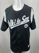 Chicago White Sox Baseball Jersey Black Stitched Button Up True Fan Large 42-44
