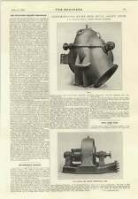1914 Centrifugal Pump For Hull Joint Dock Gate Opening Steamer Missanabie