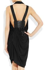Alexander Wang Stretch-jersey Open Back Black Sleeveless Mini Dress U.S 8