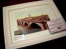 LONDON BRIDGE Framed DISPLAY, Granite piece, 1899 Art Print, Music Box, COA