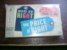 THE PRICE IS RIGHT- BID IT RIGHT - VINTAGE 1964 CARD GAME -USED - MILTON BRADLEY