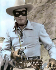 """CLAYTON MOORE THE LONE RANGER 1953 HOLLYWOOD ACTOR 8x10"""" HAND COLOR TINTED PHOTO"""