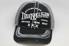 True Religion Men's Cap / Hat TR1009 Black Adjustable Size One Size Fits All