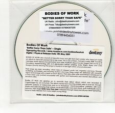 (GO143) Bodies Of Work, Better Sorry Than Safe - 2009 DJ CD
