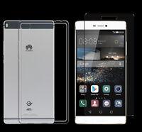 Huawei Ascend P8 TPU Silikon Schutz Hülle Cover Bumper Case + Panzerglasfolie