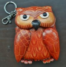 Funky Designer Owl Leather Purse