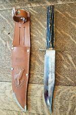 """Vintage Edge Mark #445 """"Original Bowie Knife"""" Solingen Germany & Sheath 10 1/4"""""""