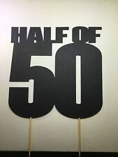 Half of 50, 25th Birthday cake topper,  50 Cent inspired