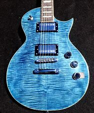 NEW ESP LTD EC256FM CB Trans Cobalt Blue Flame Top Electric Guitar