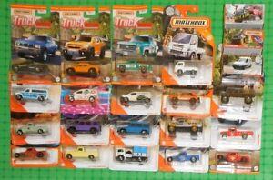 Matchbox - Lot of 22 - Trucks & Vans - w/ Powell Pickup & Mercedes- Benz G550