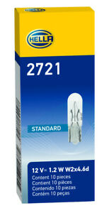 Pack of 10 Instrument Panel Light Bulb HELLA 2721 OSR2721