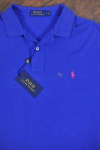 NWT Polo Ralph Lauren Mesh Polo Shirt Blue Men's Large L