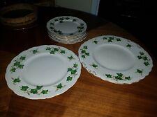 Vintage Colclough Bone China Green Ivy Leaf Side Tea & sandwich plates job lot