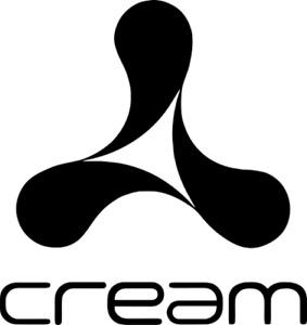 Cream logo sticker trance dance house dj flight case