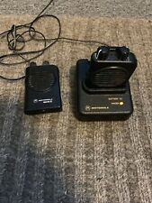 Lot Of 2 Motorola Minitor Iv Vhf Pagers, W/ Charger Base, Untested, As Is