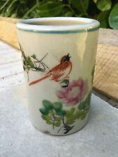 Vase Rouleau Chine  CHINESE PORCELAIN Fleurs et oiseau