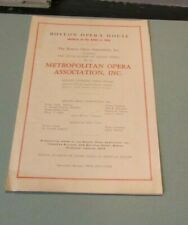 1938 Season Boston Opera House Advertising Program Singers & Conductors Pictured