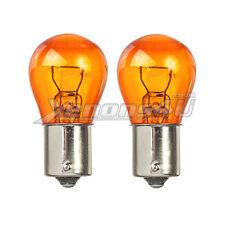 2x Amber TURN SIGNAL FRONT REAR FLASHER indicatore Lampadine BAU15S PY21W