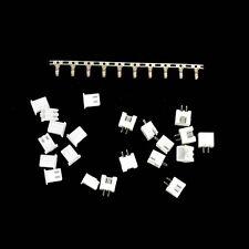 10x XH2.54-2P Connector Kits 2.54mm Pin Header + 10*Terminal + 10*Bending Socket