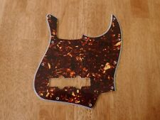 PICKGUARD BROWN TORTOISE SHELL 4 PLY FOR JAZZ BASS
