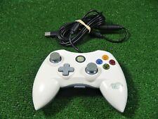 MADCATZ XBOX 360 Controlador USB con cables/gamepad en Blanco ** Probado Funcionando