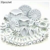 Plunger Cutters Cake Decorating Fondant Cookie Biscuit Mold Flower Set Baking