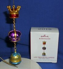 Hallmark Ornament Los Tres Reyes Magos 2018 The Three Kings Wise Men Crowns NIB