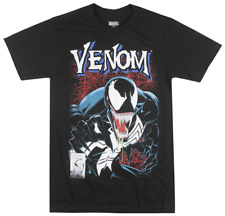 MARVEL VENOM COMIC T-SHIRT BLACK SUPER VILLIAN MOVIE TEE MENS ADULT TOP