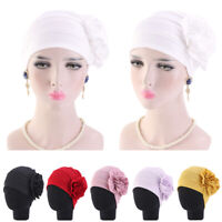 Muslim Women Flower Hair Loss Head Scarf Turban Cap Hijab Wrap Hat Chemo India