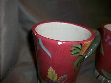 2 (CHIPPED) TRACY PORTER OCTAVIA HILL COLLECTION COFFEE MUGS TEACUPS