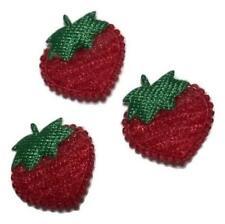 "5 pcs Red mini strawberry 1/2"" padded appliqué DIY headband & bows"