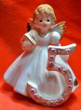 Vintage Josef Original Birthday Girl Angel - Age 5- Holding Abc Book Japan