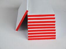 100 Stück Kellnerblock, Kellnerblöcke, Notizblock 7 x 14 cm rot verleimt