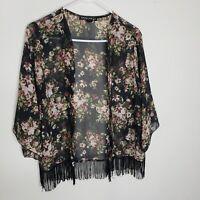 Floral Sheer Kimono Sz S