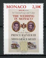 Monaco 2019 MNH Grace Kelly Wedding Prince Rainer III 1v Set Royalty Stamps