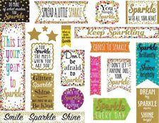 TCR 8962 Confetti Sparkle and Shine Motivational Bulletin Board Classroom Set