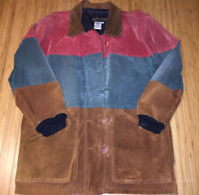 Vintage Don't Stop Color block Leather Suede Jacket Size Small supreme 90s rare