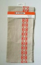 Genuine Le Creuset Lantern Flame Orange Tea Towel (NEW)