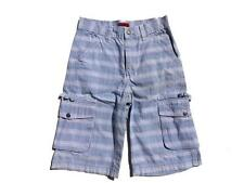 New HADLEIGH Boys Cargo Shorts Trousers AGE 10 Blue + White