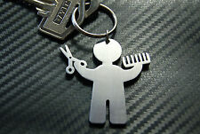HAIRDRESSER MALE Barber Hair Style Salon Stylist Shave Keyring Keychain Key Gift