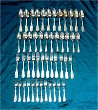Dutch 833 Sterling Silver Flatware for 12 Antique 1894-33 48pc. 2612 grams