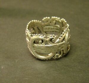 SARDA STERLING RING Sterling Silver Signed  Dependence Clear Cut  Artisan