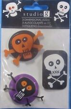 Studio G Halloween Skull And Crossbones Dimensional Stickers