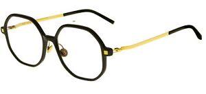Mykita HILLA_A C Black Glossy Gold 17/17/0 unisex Eyewear Frame
