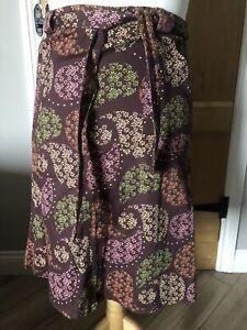 Top Shop A Line Wrap Skirt Size 12